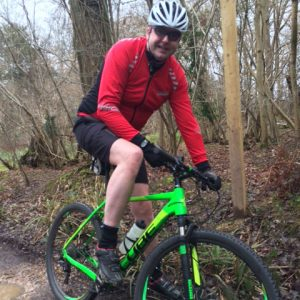 Photo of Paul Summers picture on his mountain bike